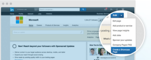 Showcase Pages LinkedIn 1