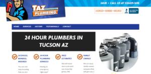 Taz Plumbing Services Landing Page