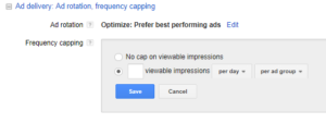 YouTube Advanced Setting Frequency Capping