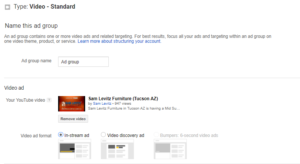 YouTube Create Your Ad Group